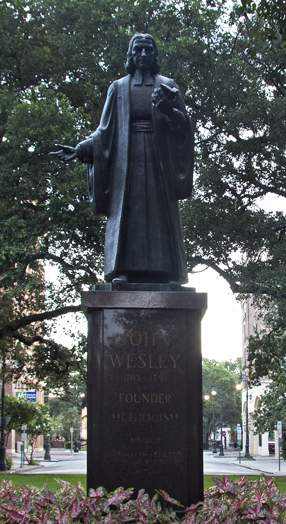 John Wesley monument at Reynolds Square